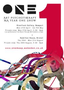 Art Psych year one show poster final little